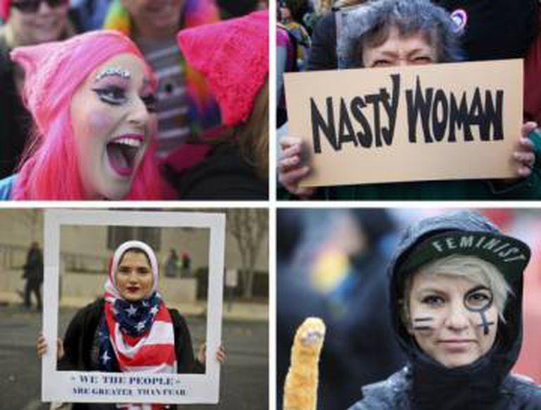 Várias mulheres protestam em diferentes cidades do mundo no último dia 21 de janeiro após a vitória de Trump.