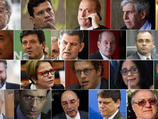 Todos os ministros do Governo de Jair Bolsonaro.