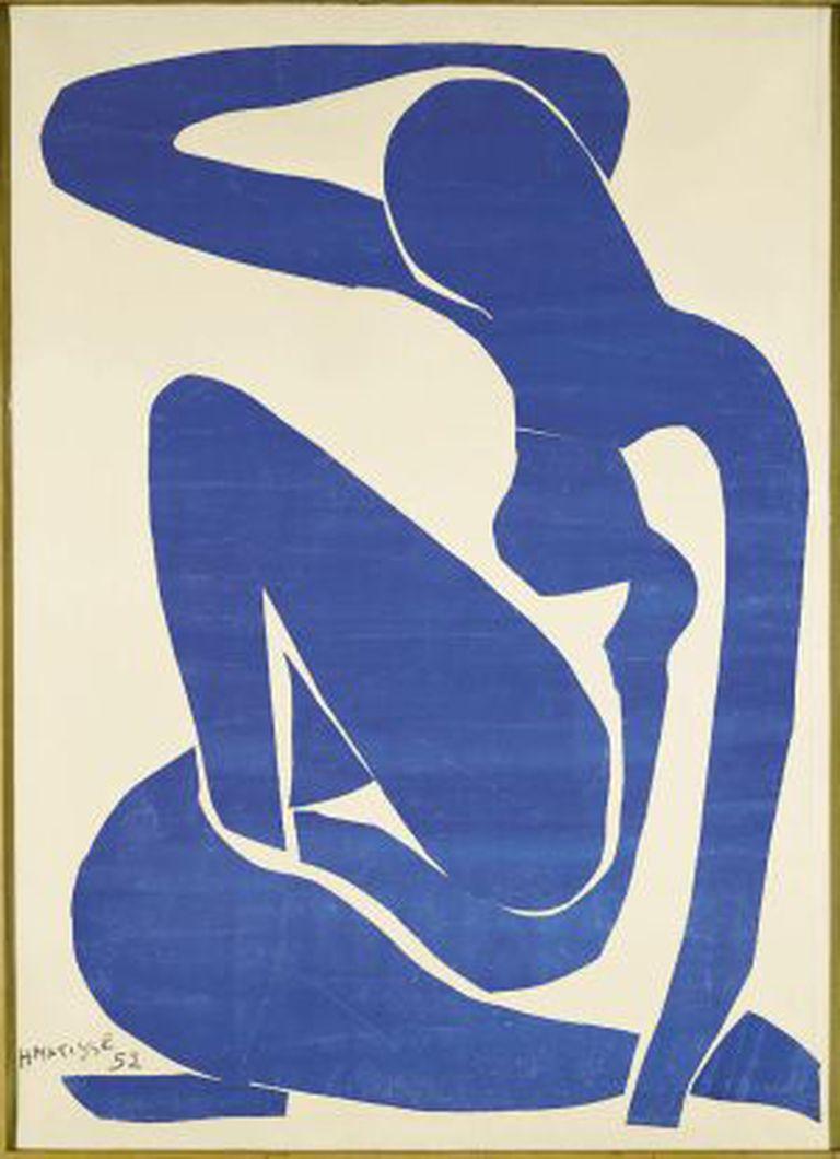 'Nu azul II'.