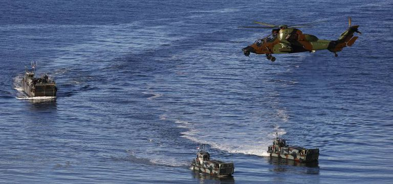 Manobras militares da OTAN em Trondheim (Noruega), em outubro.