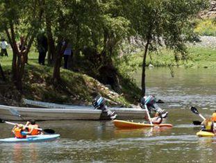 Parque Ecoalberto, onde simulam cruzar a fronteira com os EUA.