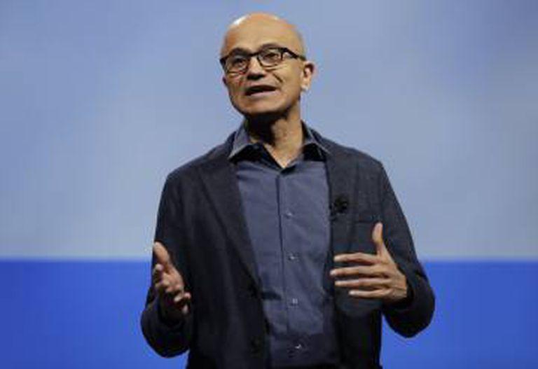 Satya Nadella, presidente da Microsoft, em uma imagem de arquivo.