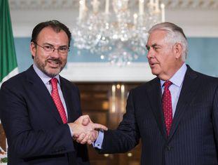 Videgaray durante reunião com Tillerson na quarta-feira em Washington