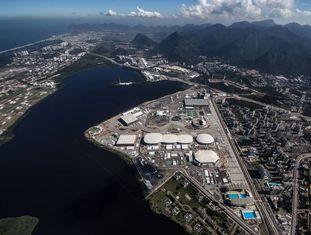 Vista aérea do Parque olímpico.