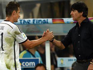 Klose e Loew, no final do Brasil 2014 ante Argentina.