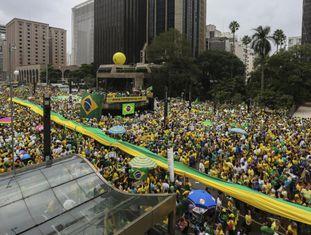Manifestantes da Paulista.