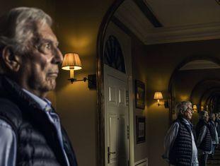 Mario Vargas Llosa, em sua casa em Madri.