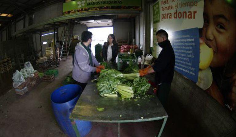 Um banco de alimentos na Argentina.
