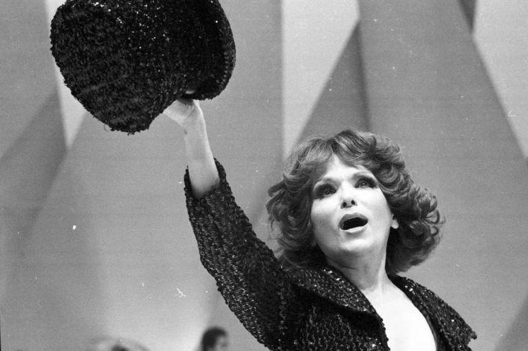 Bibi Ferreira no espetáculo 'Brasil 79', em 1979.