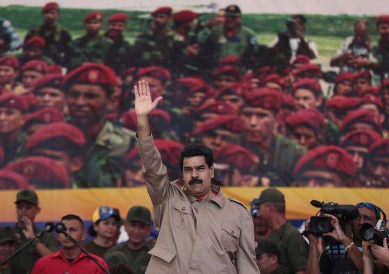 Maduro, em um ato das Forças Armadas venezuelanas.