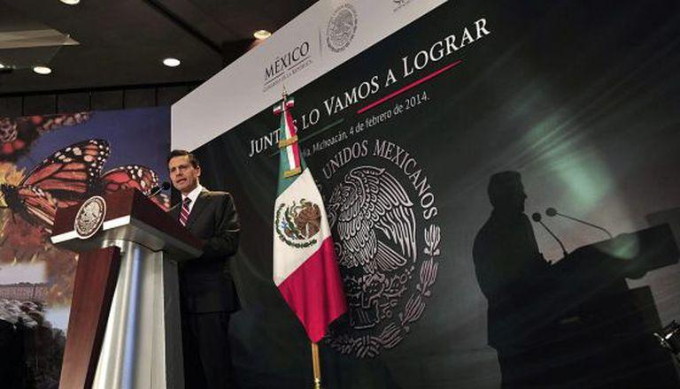 Enrique Peña Nieto, em Morelia.