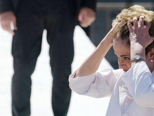Dilma Rousseff durante sua despedida do Planalto.