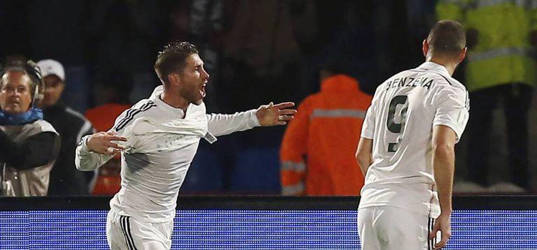 Ramos festeja um gol na final do Mundial de Clubes contra o San Lorenzo, em dezembro de 2014.