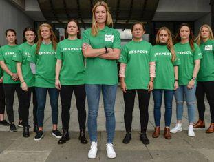A seleção da Irlanda, depois da entrevista à imprensa.