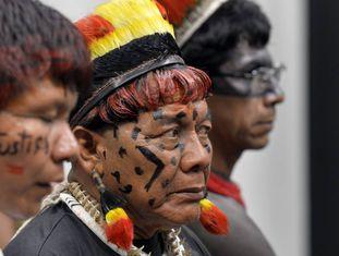 Indígenas durante a CPI da Funai, em novembro passado.