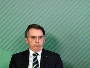 O presidente Bolsonaro no dia 9, no Planalto.