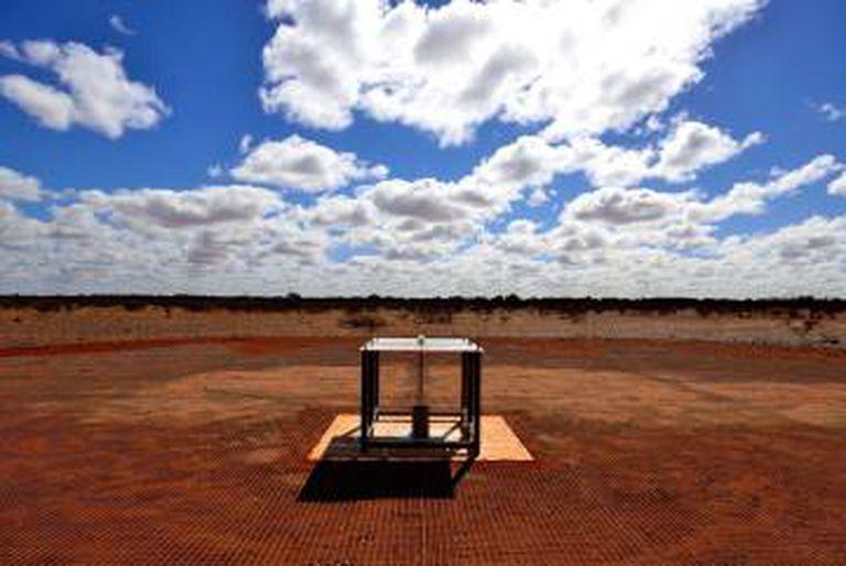 O detector utilizado para captar o sinal instalado no Observatório Radioastronômico de Murchison, do CSIRO, na Austrália Ocidental