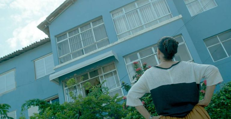 Sonia Braga em cena de 'Aquarius'.