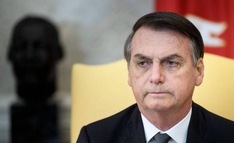 Presidente Jair Bolsonaro, no dia 19 de março, em visita aos Estados Unidos.