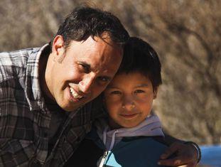 Javier e o filho Gabriel.