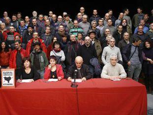 Ato de ex-presos do ETA no norte da Espanha.
