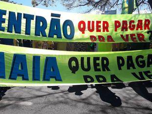 Faixa em Brasília.