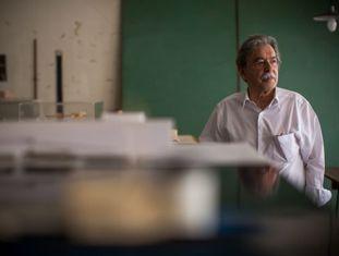 Paulo Mendes da Rocha, em seu escritório em São Paulo.