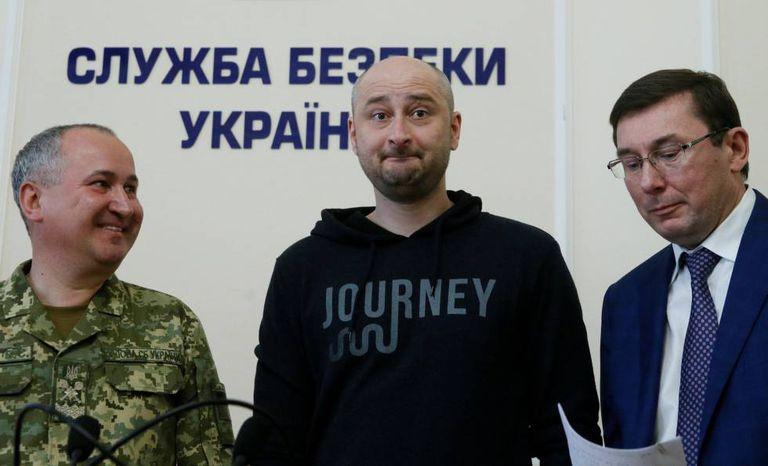 Babchenko, o jornalista dado como morto na coletiva de imprensa nesta quarta.