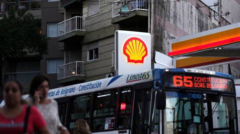 Posto Shell na Argentina