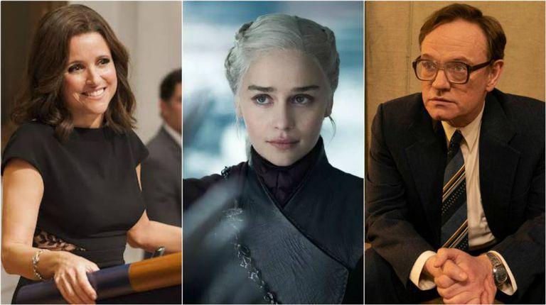 Julia Louis-Dreyfus ('Veep'), Emilia Clarke ('Game of Thrones') e Jared Harris ('Chernobyl').