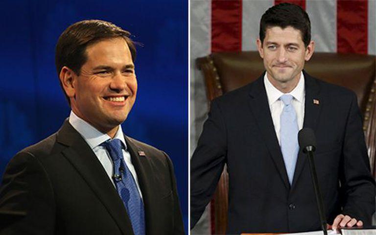 Marco Rubio (esq) e Paul Ryan.