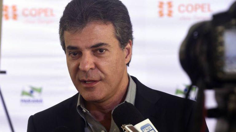 Beto Richa em evento quando era governador do PR, em janeiro de 2016