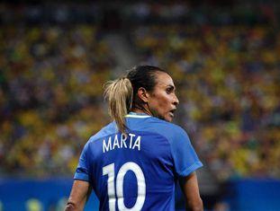 Marta, na partida contra a África do Sul nesta terça.