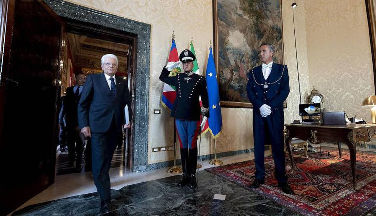 O presidente Sergio Mattarella o passado 22 de agosto no palácio do Quirinal, em Roma.