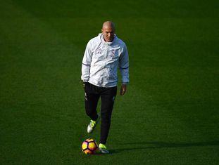 Zidane, no último treinamento antes do clássico.