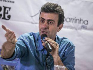 Marcelo Freixo, candidato do PSOL, nesta quinta-feira.