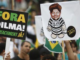 Protesto contra Rousseff em São Paulo no dia 20.