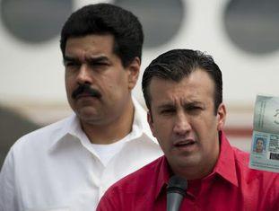 Tarek El Aissami com Maduro, em uma imagem de arquivo.