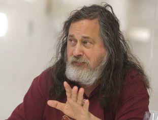 Richard Stallman, pai do software livre, na quarta-feira, durante a entrevista em San Sebastián