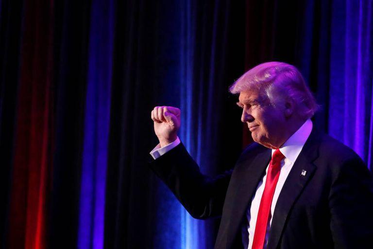 O presidente eleito dos EUA, Donald Trump.