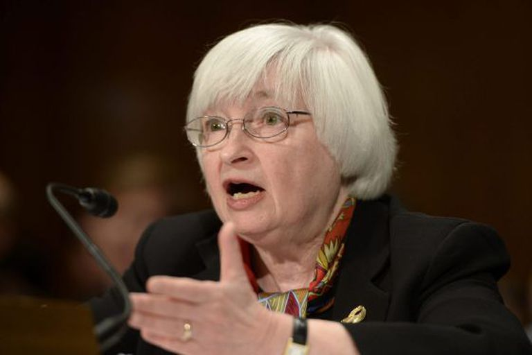 A presidenta do Fed, Janet Yellen.