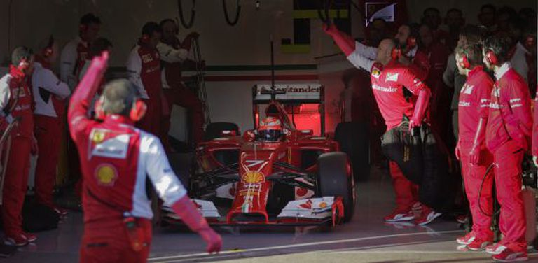 Raikkonen, no circuito de Jerez.