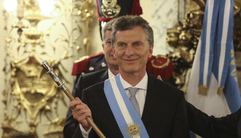 Mauricio Macri, no ato de posse como presidente de Argentina.