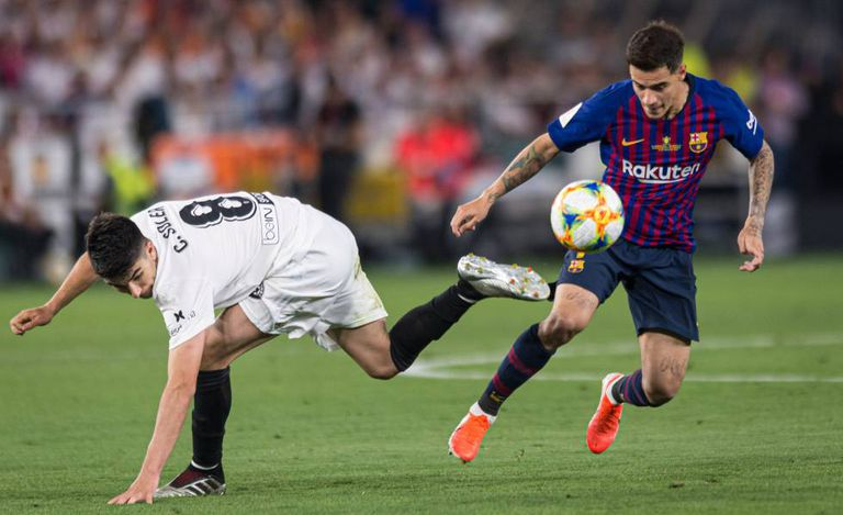 Coutinho na final contra o Valencia.