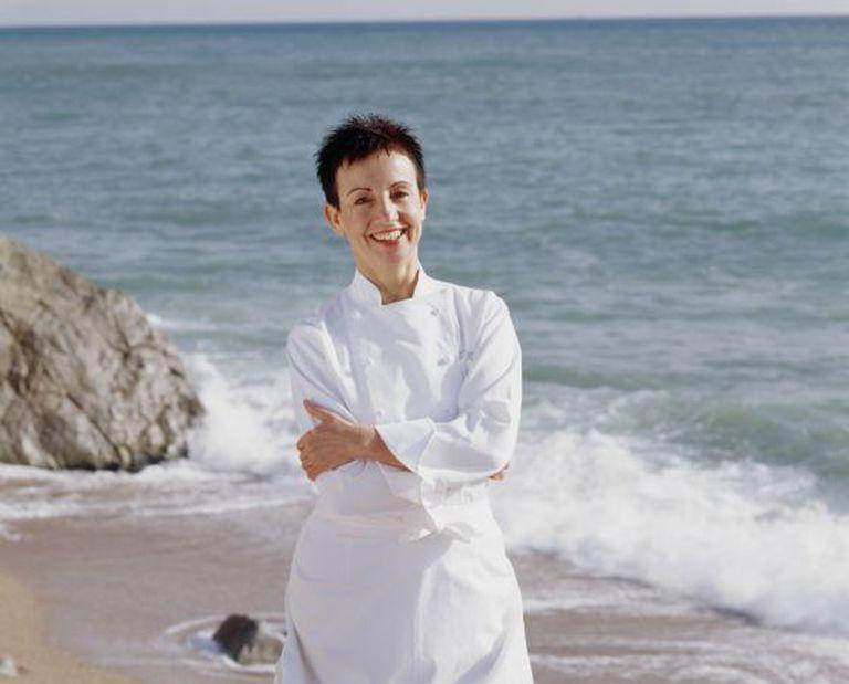 A chef Carme Ruscalleda, em Sant Pol de Mar, onde se localiza seu restaurante Sant Pau.