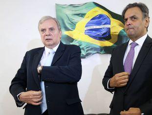 Os senadores Tasso e Aécio.