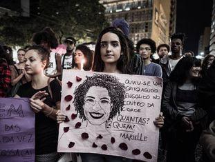 Manifestação em homenagem à vereadora Marielle Franco, em março deste ano.