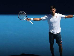 Djokovic, durante a partida contra Istomin.