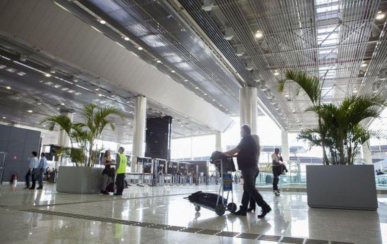 O aeroporto internacional de Guarulhos, nesta terça-feira.