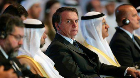 Bolsonaro en Abu Dhabi el pasado domingo.